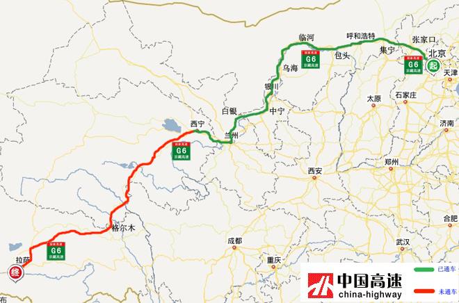 青海公路地图全图